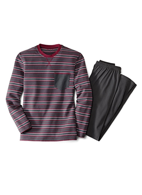 Tchibo Erkek Pijama Takımı Gri